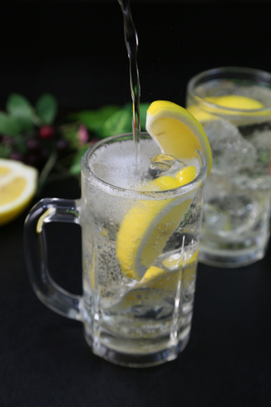 An alcoholic drink, called highball