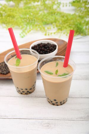 Tapioca tea and tapioca pearl