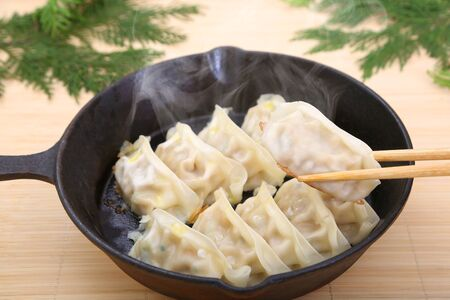 Dumpling on the frying pan