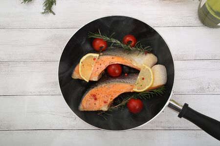 The salmon lemon steak which I am cooking