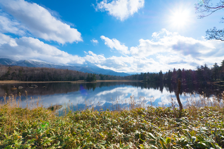 Shiretoko Five Lakes, Shiretoko Goko, in Shiretoko National Park in Hokkaido, Japan