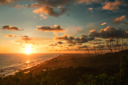 Sunset at the Southern Tip of the Island of Java, Parangtritis Beach, Jogjakarta