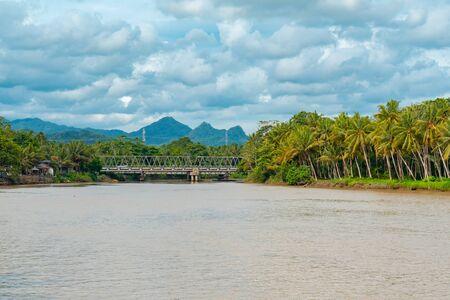 Hilir River Which Separates Between Kulon Progo Regency & Purworejo Regency Banco de Imagens