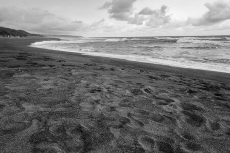 Black & White -  Texture Of Beach Sand