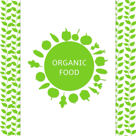 Organik food poster, background