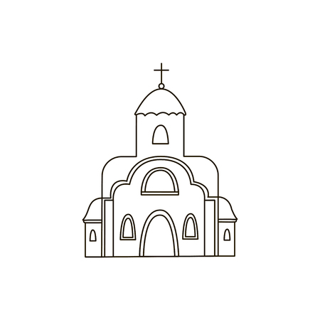 church building: Church icon. Drawing. Building. Line