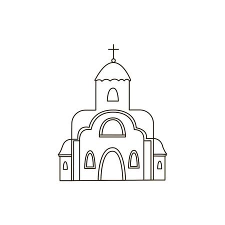 sanctuaries: Church icon. Drawing. Building. Line