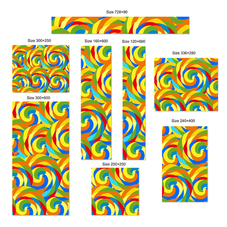 standard size: Colorful abstract web banners set. Standard size Illustration