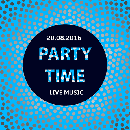 party time: Party time poster, creative circles background