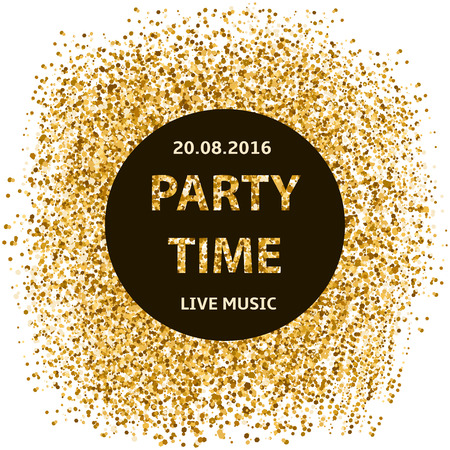 Party time poster, creative background