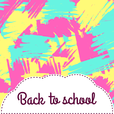 Back to school colorful background Illustration