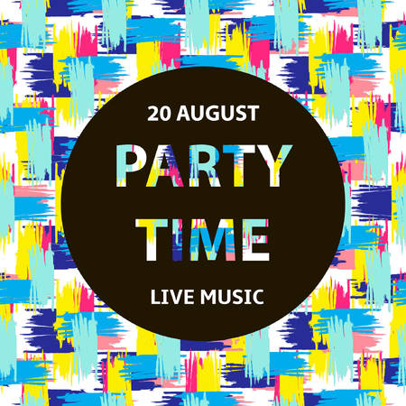 party background: Party time poster, colorful background Illustration