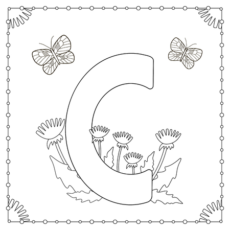 Alfabeto Para Colorear. Letra Mayúscula \