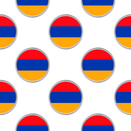 Seamless pattern from the circles with Armenia flag. Vector illustration. 向量圖像