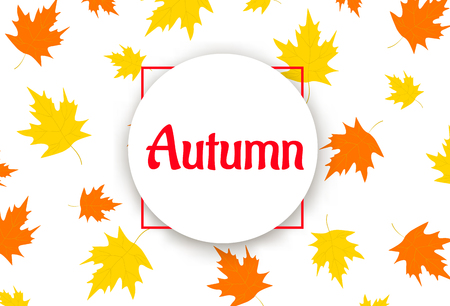 Autumn background with colorful leaves. Vector illustration Illustration