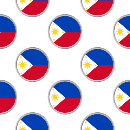Seamless pattern from the circles with flag of Philippines. Vector illustration  Illusztráció