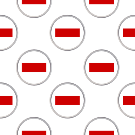 Seamless pattern of circles with the flag of Sharjah and Ras-al-Khaimah. Illustration