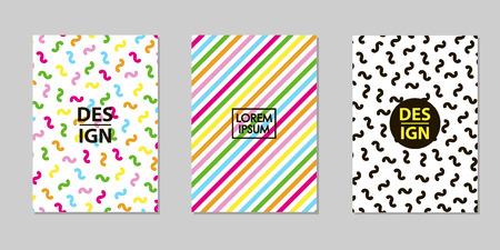 Creative multicolor backgrounds set. Trendy templates for card, banner, poster. Vector illustration Illustration