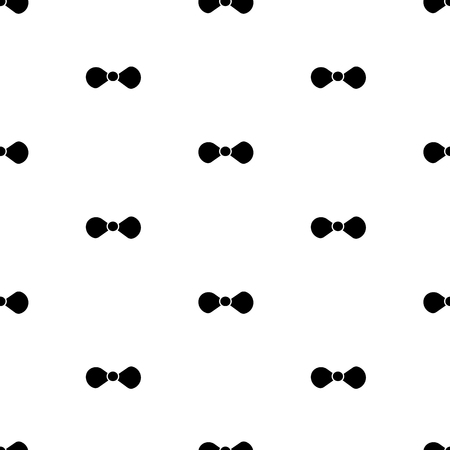 Seamless pattern with black bow tie on the white background . Vector illustration
