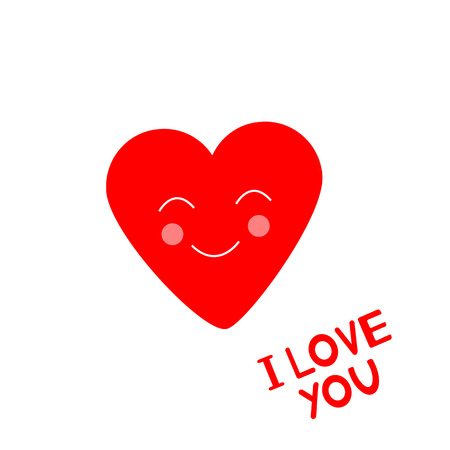 I Love you - card with heart. Vector illustration