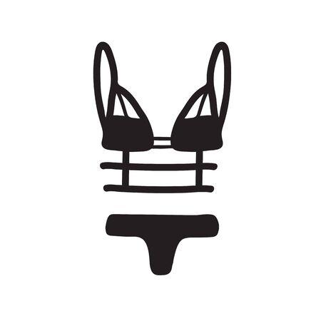 Women underwear. Lingerie. Hand drawn. Vector illustration.
