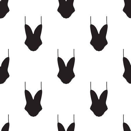 Seamless pattern with women underwear. Lingerie background. Hand drawn. Vector illustration. Illustration