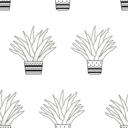 Aloe vera. Seamless pattern. Vector illustration 일러스트