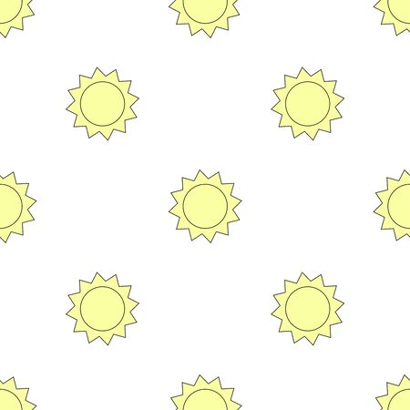 Seamless pattern with sun. Colorful background. Vector illustration 일러스트