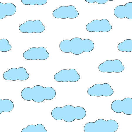 Seamless pattern with clouds. Colorful background. Vector illustration