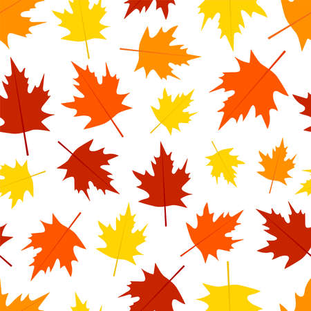 Autumn seamless pattern. Leaves digital paper. Vector background.