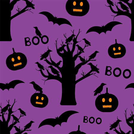 Halloween seamless pattern. Creative digital paper. Vector illustration. 일러스트