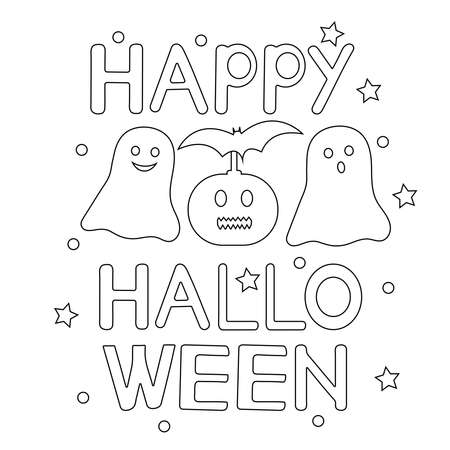 Halloween coloring page. Creative background. Vector illustration