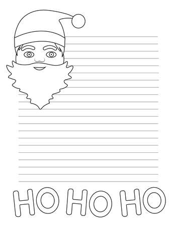 Christmas greeting card. Christmas letter. Coloring page. Vector illustration.
