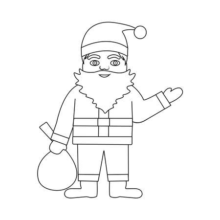 Funny Santa Claus. Vector illustration.  イラスト・ベクター素材
