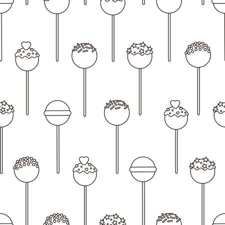 Candy seamless pattern. Lollipops background. Sweets. Candies.