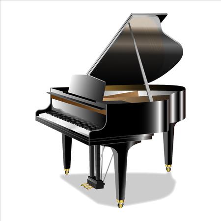 Illustration du piano à queue Vecteurs