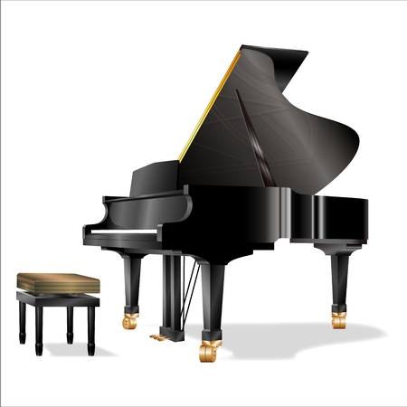 Illustration of grand piano