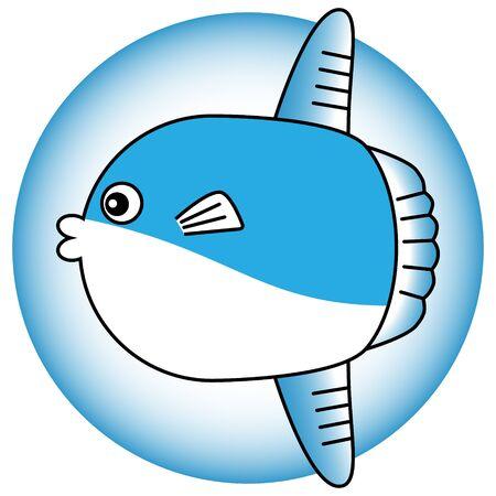 Illustration of a cute sunfish