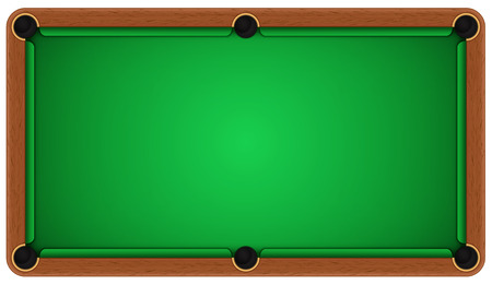 Empty billiard table on a white background. EPS 10 Stock Illustratie