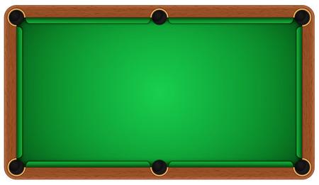 bola de billar: Mesa de billar vacío sobre un fondo blanco. EPS 10 Vectores