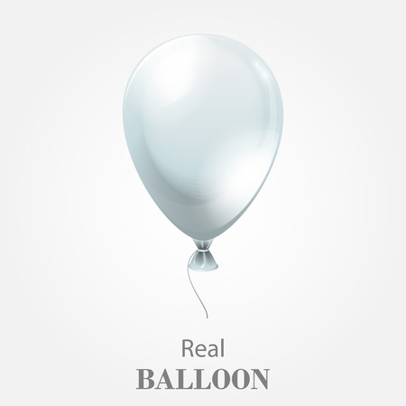Festive Balloon isolated on white background.  EPS 10