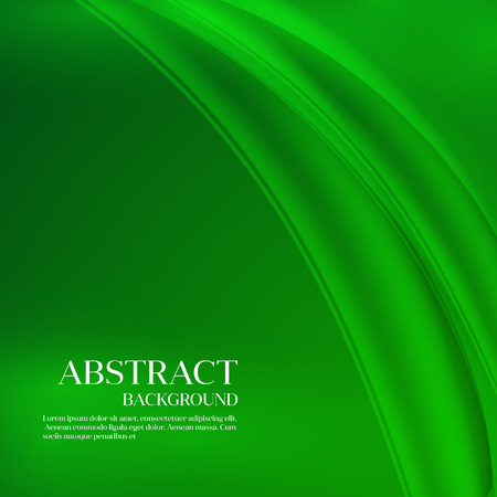curved lines: Green  Template Abstract background with curved lines. Illustration