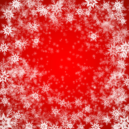 schneeflocke: Christmas background of snowflakes in red colors EPS10