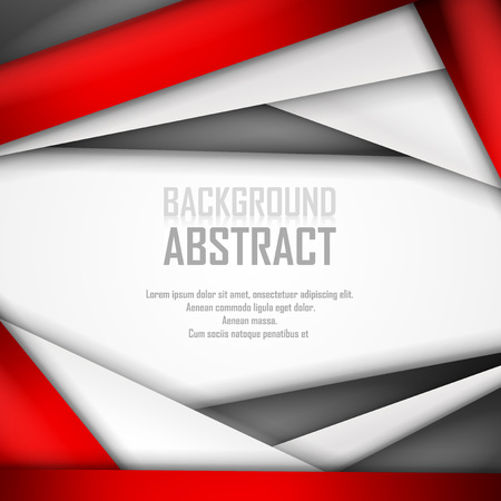 Abstract background of red, white and black origami paper.