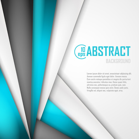 art digital: Abstract background of blue, white and black origami paper.  Illustration