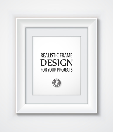 the frame: Realistic Vector Frame template.