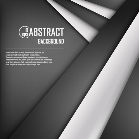 black white: Abstract background of white and black origami paper. Vector illustration. Mesh. EPS 10 Illustration