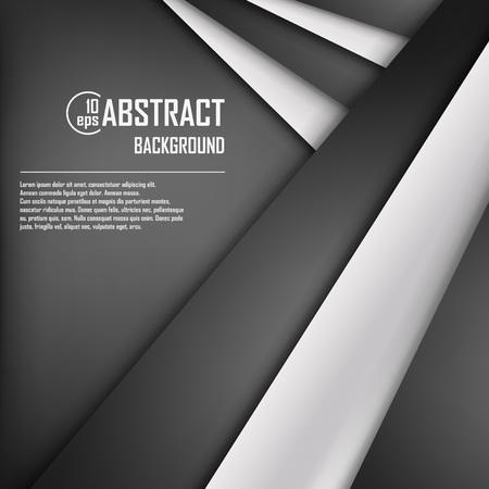 fondo blanco y negro: Resumen de fondo de papel de origami en blanco y negro. Ilustración del vector. Malla. 10 EPS