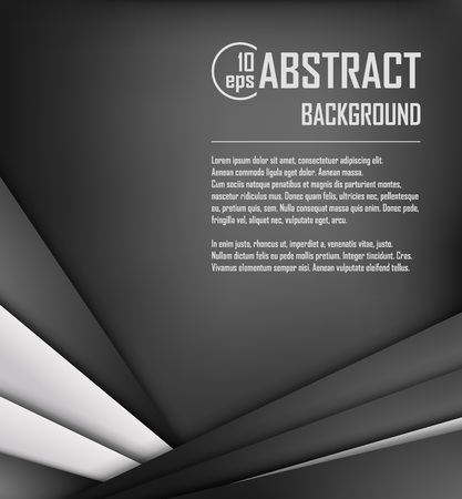 graphic element: Abstract background of white and black origami paper. Vector illustration. Mesh. EPS 10 Illustration