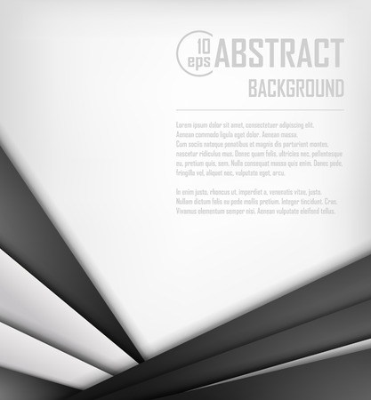 graphic presentation: Abstract background of white and black origami paper. Vector illustration. Mesh. EPS 10 Illustration